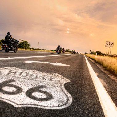 La route 66 d'Albuquerque à Los Angeles